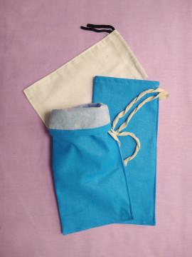 Мешочки под силикагель из бязи и микалентной бумаги